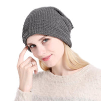 2017 Winter Autumn beanie Outdoor Unisex Warm Crochet Bonnet Hats Knitted Wool Hemming Cap chapeu Skullies Black Gray Khaki