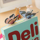 6 Pcs Books Marks Flower Print Bookmark Stationery Mini Paper 3D Stereo Butterfly Bookmarks For Girls Women Gifts Random Color