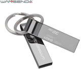 WANSENDA Waterproof USB Flash Drive Metal Pen Drive 4GB 8GB 16GB 32GB 64GB Pendrive USB Stick Flash Drive with Keychain