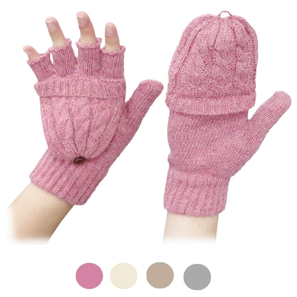 1Pair Solid Screen Magic Wool Gloves Women Girl Female Stretch Knit Gloves Mittens Hot Winter Warm Accessories