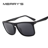 MERRY'S DESIGN Men Polarized Square Sunglasses Fashion Male Eyewear Aviation Aluminum Legs 100% UV Protection S'8250
