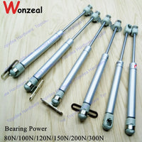 1pc Force Lift Support Furniture Gas Strut Spring 100N/120N/150N bearing Hydraulic Lift Up Gas Spring Soft Open Furniture hinge