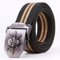 Designer Belts Men High Quality Brand Belt For Men Cinto Mens Fashion Pin Buckle Canvas Cowboy Knitted Strap Casual Striped Belt