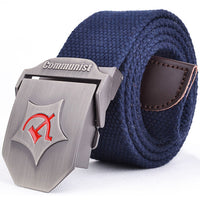 Soviet Union Tactical Canvas Belt Men Canvas Outdoor Belt Russia Military Equipment Cinturon Men's Belts Luxury For Men Brand