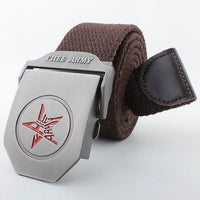 MYDBSH Men Brand Canvas Belts High Quality Male Strap Military Belt Men's Canvas Belt Tactical Cintos Men's Belts Luxury LB088