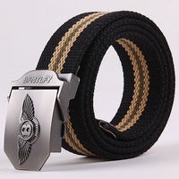 Men's Outdoor Belts Fashion Casual men Military belt buckle canvas fashion Western Strap Cinturon canvas belts for men C414-4
