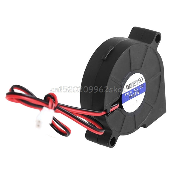 50mmx15mm DC 12V 0.14A 2-Pin Computer PC Sleeve-Bearing Blower Cooling Fan 5015 #H029#
