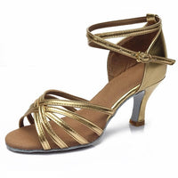 Hot selling Women Professional Dancing Shoes Ballroom Dance Shoes Ladies Latin Dance Shoes heeled 5CM/7CM