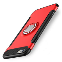 Case for iPhone 7 8 X 6 S 6S Plus Car Holder Magnetic Suction Ring Bracket Shockproof Rugged Armor Phone Cover for iPhone5 5S SE