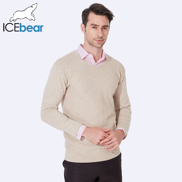 ICEbear 2017 V-Neck Sweaters For Men Computer Knitted Fashion Male Pullovers Sweater Casual Sweater Men Clothing 804D