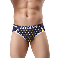Five-Pointed star Print Underwear Boxers Pouch Shorts Underpants BK L