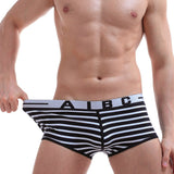 Fashion Mens Brief Cotton Strip Underwear shorts boxers underpants