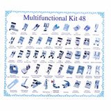 32/42/48/52 Pcs Sewing knitting crochet Domestic Machine Blind Stitch Darning Presser Foot Feet Kit Set For Brother Singer Janom