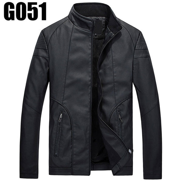 2017 Mens Leather Jackets And Coats Motor PP Jacket Motorcycle Jacket Men Autumn and Winter Leather Clothing S-XXXL