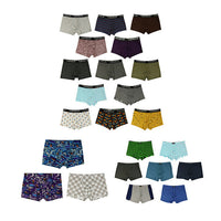 2017 Shorts Mens 4Pcs\lot Underwear Soft Boxers Cotton Boxer Men Solid Boxer Shorts Plus Size Boxers Mens Underwear Lot Q