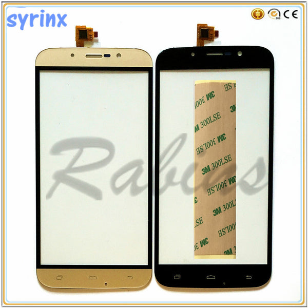 SYRINX 5.5 inch Phone Touch Screen Panel Touchscreen For Umi Rome X Touch Panel Digitizer Front Glass Sensor 3m Stcikers