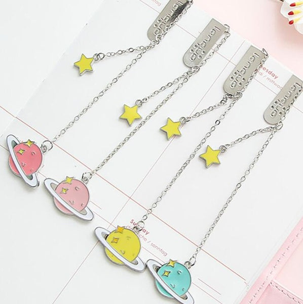 Colorful Star Pendant Bookmark Stationery School Office Supply Escolar Papelaria