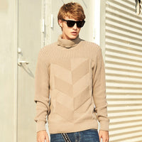 Pioneer Camp new style Turtleneck sweater men brand clothing fashion autumn winter pullover Knitwear Double collar AMS701376