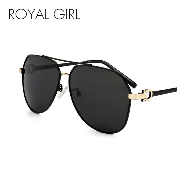ROYAL GIRL Brand Designer Men Pilot Polarized Sunglasses Metal Frame Personality Leg Sun Glasses for women ss702