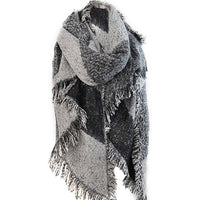 2018 Autumn Winter Warm Women Thicken Blanket Scarf 200cm Cashmere Pashmina Wool Scarves Warm Wraps Cape Tassel Poncho
