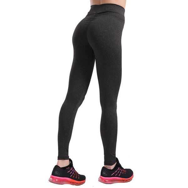 CHRLEISURE S-XL 3 Colors Women Push Up Leggings Casual Workout Black Polyester Legging High Waist Leggings Jeggings Women