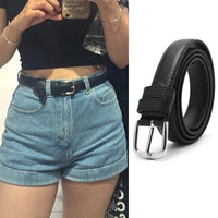 2017 Hot Fashion Women Belts Leather Metal Pin Buckle Waist Belt Waistband 110cm