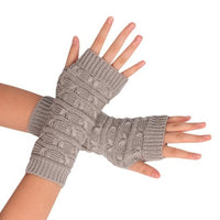 2017 New Fashion Knitted Arm Fingerless Winter Gloves Unisex Soft Warm Mitten &Wholesale