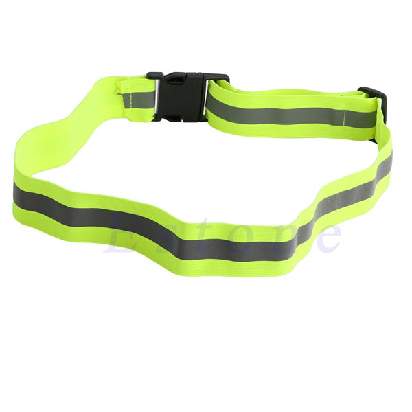 High Visibility Reflective Safety Security Belt Running Jogging Walking Biking Free Shipping