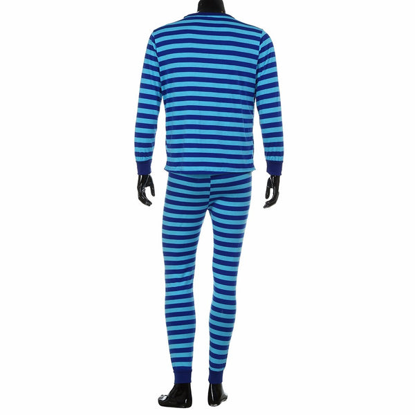 Mens Family Matching Christmas Pajamas Set Striped Blouse +Pants