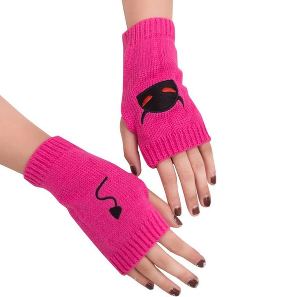 Creative Design Women Gloves Girls Knitted Arm Fingerless Driving Gloves Soft Warm Winter Knitted Wool Mittens Guantes MujerLuva