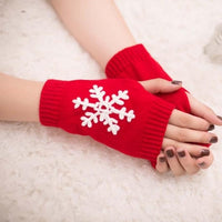 2017 Christmas Gift Women Girl Knitted Arm Fingerless Warm Winter Gloves Soft Warm Mittens Guantes Sin Dedos Mujer Luva Inverno