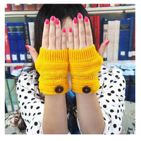 Chic Women Winter Wrist Arm Hand Warmer Knitted Long Fingerless Gloves Mittens