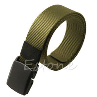 Free Shipping Fashion Hypoallergenic Metal Plastic Automatic Buckle Belt Wild Men Canvas Belt