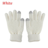 1 Pair Knitted Wool Winter Warm Women/Men Hand Wrist Warmer Fingerless touch Screen Gloves White Grey
