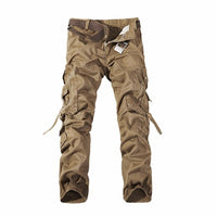 Casual Mens Pants Men's Cargo Pants Multi Pockets Military Overall Men Outdoors High Quality Male Long Trousers 30-42 Plus Size