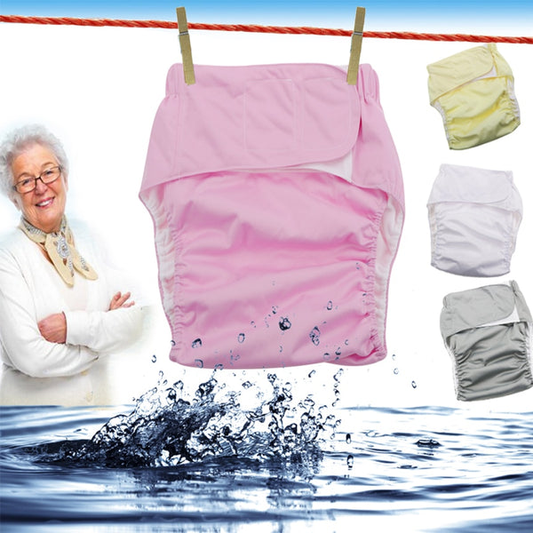 3pcs Reusable adult diapers for the elderly and the disabled, adjustable TPU jacket Waterproof incontinence pants underwear D20