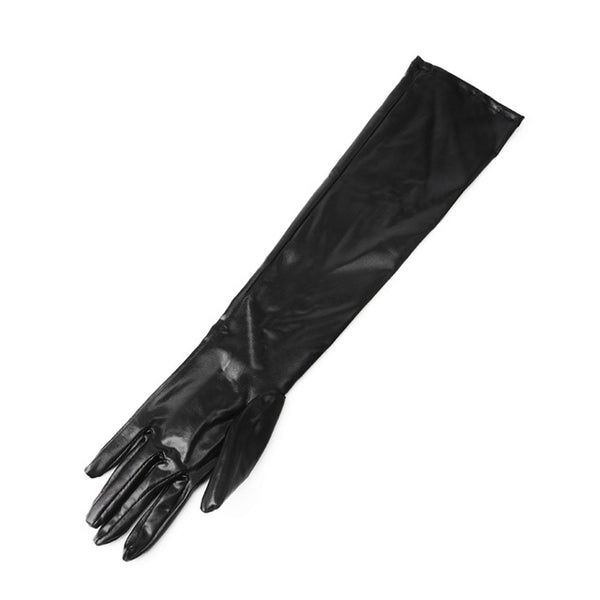 Adult Patent Leather Adhesiv Gloves Sexy Queen Adult Accessories Shiny WetLook