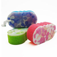 1PC Sponge Massage Multi Bath Shower Exfoliating Body Cleaning Scrubber Cleaning Random Color