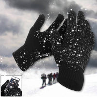 One Pair Of Men Male Winter Warm Fleece Lined Thermal Knitted Gloves Touchscreen Magic Outdoor Accessories Gloves