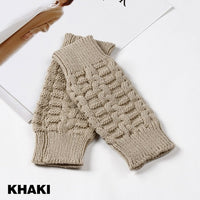 1Pair Fashion Knitting Gloves & Mittens Casual Unisex Men Women Fingerless Soft Solid Crochet Knitted Gloves Mitten Winter Warm