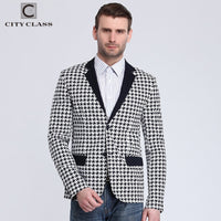 City Class 2016 New Spring Mens Blazer Fashion Slim Fit Business Casual Suits Eupo Size Jackets Veste Costume Homme 6009