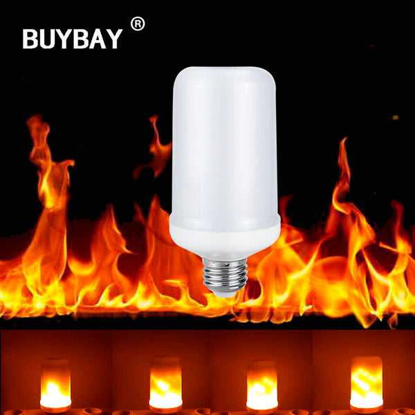 LED E27 5W Flicker Flame Fire Effect Light Bulb Warm White Decor Lamp