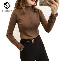 Autumn Winter 2017 Women Sweaters And Pullovers Clothing Casual Knitted Women Tops Long Sleeves Basic Sweaters For Women C7N605A