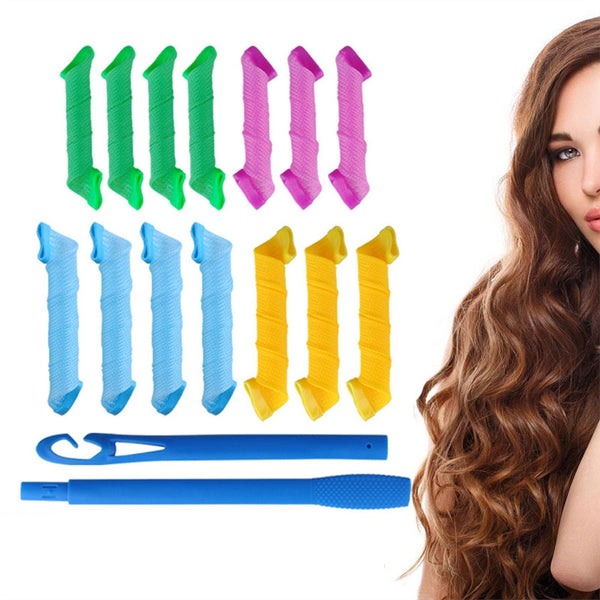 Long Spiral Curls Top Up Pack Hair Curler Curls Former for Wavy Tight Spiral Curls