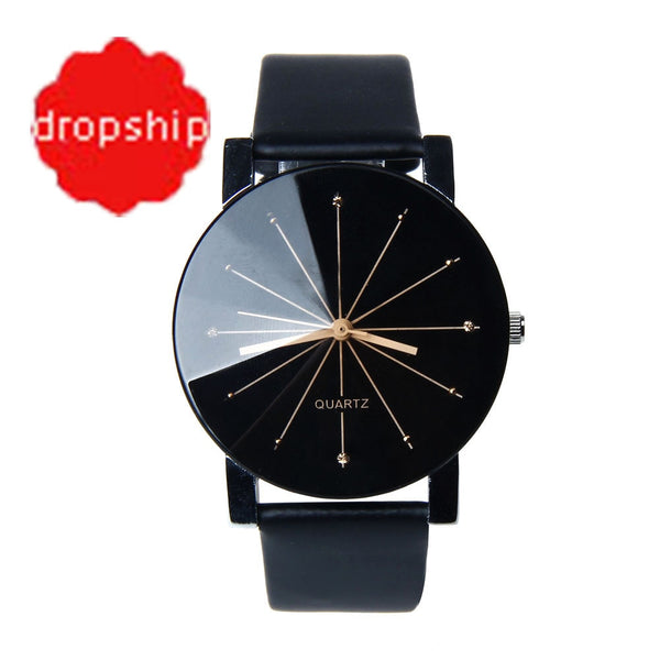 Splendid Watches Men Women Luxury Top Brand Quartz Dial Clock Leather Round Casual Wrist watch Relogio masculino
