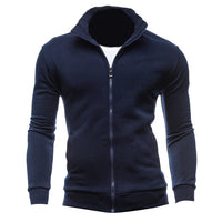 Autumn Cardigan Solid Plain Men Hoodies Basic Style Long Sleeve Full Zip Up Casual Tracksuit Hoody Jackets Men Sweatshirts