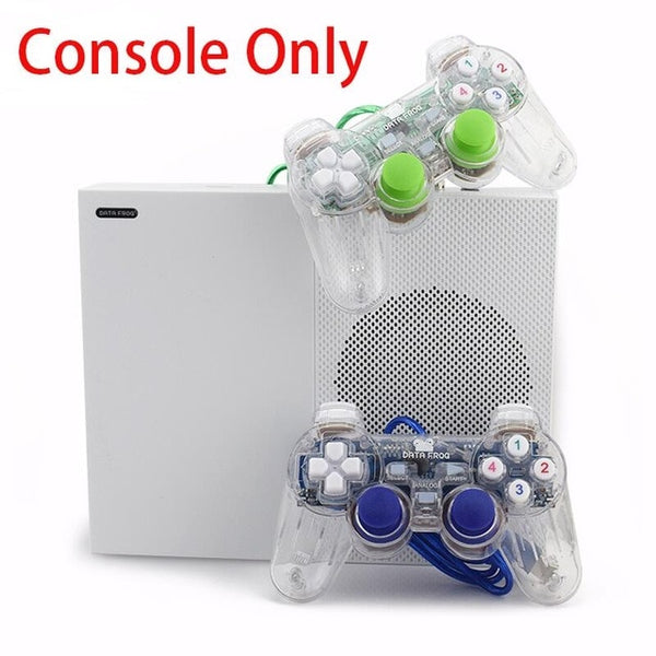 Data Frog 2017 New 4GB Video Game Console TV Consoles with 600 Games Transparent Gamepad Family Player for GBA/NEOGEO/NES/SNES