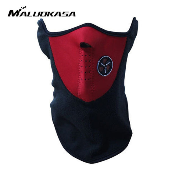 MALUOKASA Motorcycle Half Face Mask Cover Fleece Unisex Ski Snow Moto Cycling Warm Winter Neck Guard Scarf Warm Protecting Maske