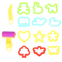 Children Kids DIY Cutter Mould Kit Clay Modeling Tool with Knife / Roller