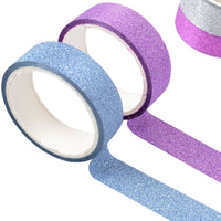 New Arrival Adhesive Silver Golden Glitter Washi Tape Scrapbooking Christmas Party Kawaii Cute Decorative Paper Crafts Hot Sale